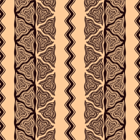 african fabric: Seamless pattern in african style  Illustration