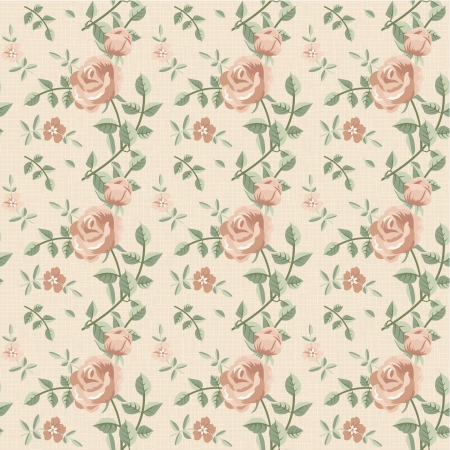 Seamless pattern of roses retro style Stock Vector - 18756326