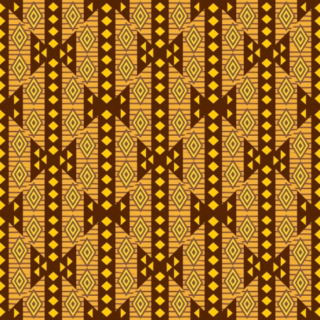 yellow african: African textile design ornamental seamless backround