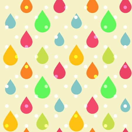 Cute seamless pattern of colorful drops Vector
