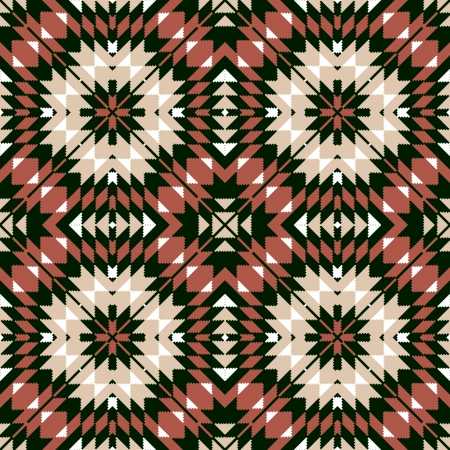 Ethnic seamless geometric pattern