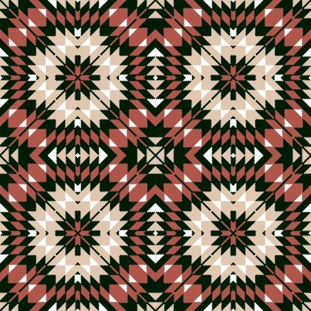 Ethnic seamless geometric pattern