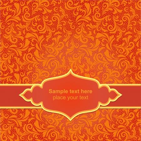 stylishness: Red asiasn ornamental background