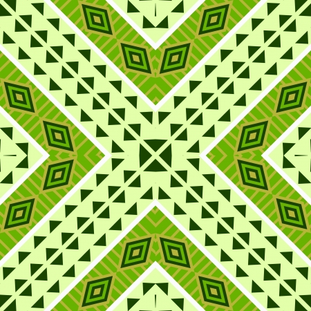 Seamless geometric ethnic tribal pattern Vector