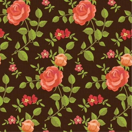 green carpet: Seamless pattern of blooming roses