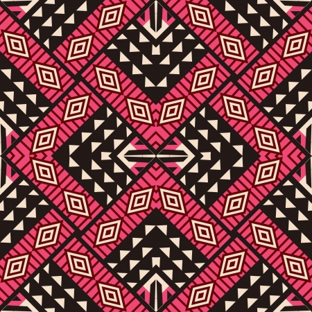 Tribal ornamental design, seamless pattern