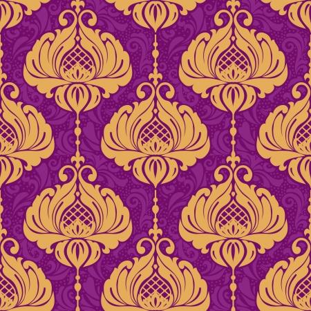 Vintage damask ornamental seamless pattern