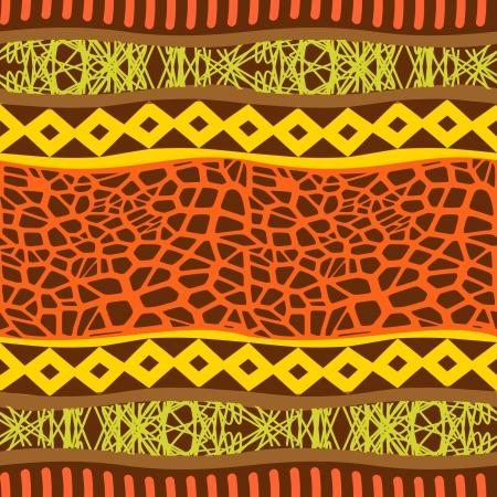ilustraciones africanas: Ornamento sin costuras Primitiva Vectores