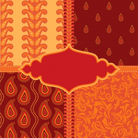 Set of ornamental paisley patterns Vector