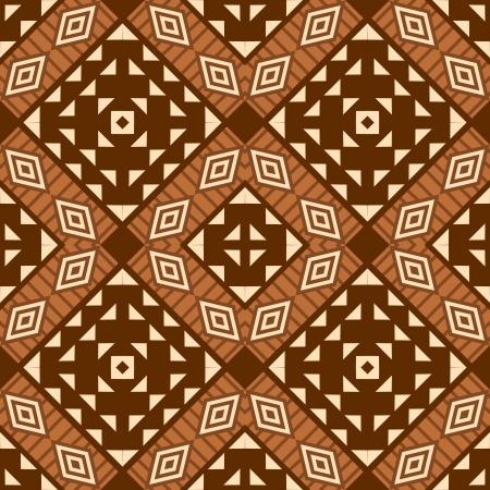 African style textile seamless pattern Vector