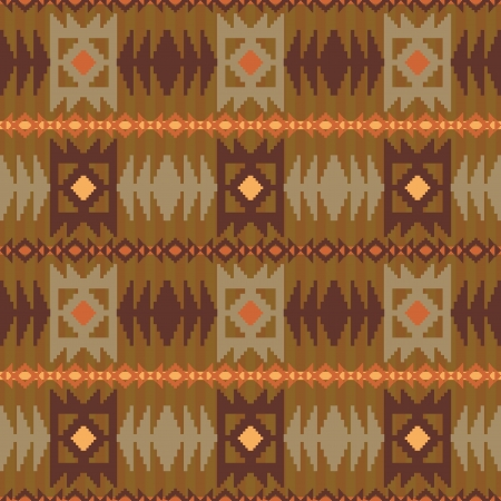 Geometric pattern in ethnic style Vector