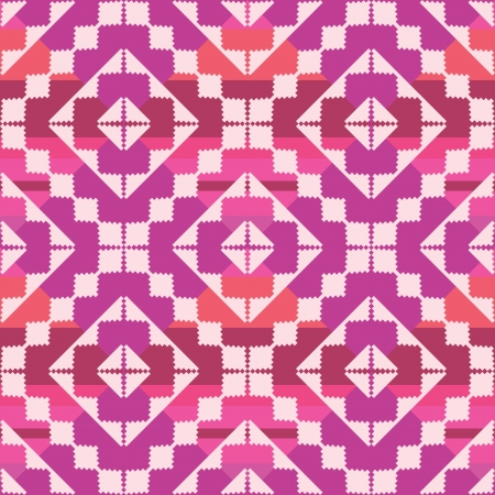 Geometric seamless pattern in ethnic style Vector