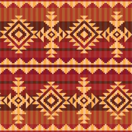 Navajo stijl naadloos patroon Stock Illustratie