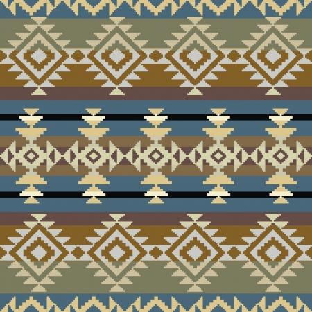 native indian: Navajo modelo geom�trico inspirado sin fisuras Vectores