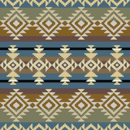 native indian: Seamless navajo inspired geometric pattern Illustration