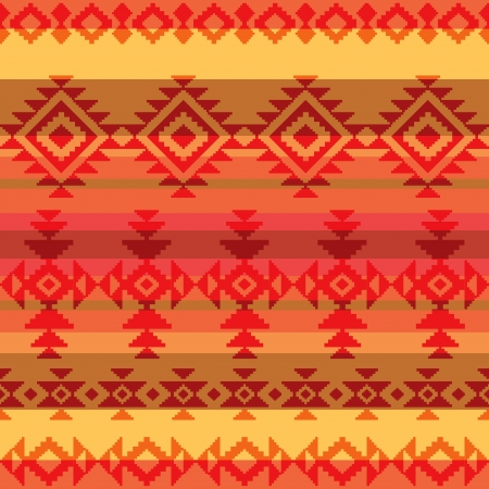 native american art: Traditional american indian style seamless pattern