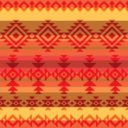 Traditionele Amerikaanse Indische stijl naadloos patroon Stock Illustratie