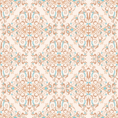 Damask ornamental persian seamless pattern Vector