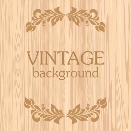 menu board: Light wooden background