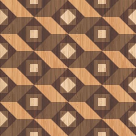 Mosaic wooden parquet texture seamless pattern Illustration