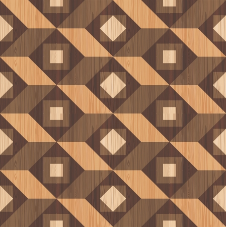 Mozaïek houten parket textuur naadloze patroon Stock Illustratie