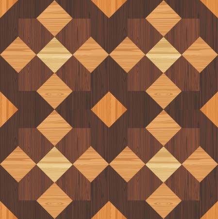 furnier: Holz Mosaik nahtlose Muster Illustration
