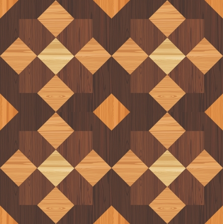 Wooden mosaic seamless pattern Vector