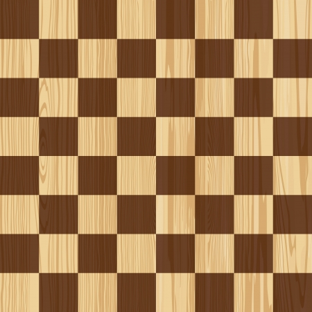 parquet floor: Checkerboard woodem seamless pattern Illustration