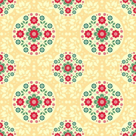 Colorful floral seamless pattern Stock Vector - 20233596