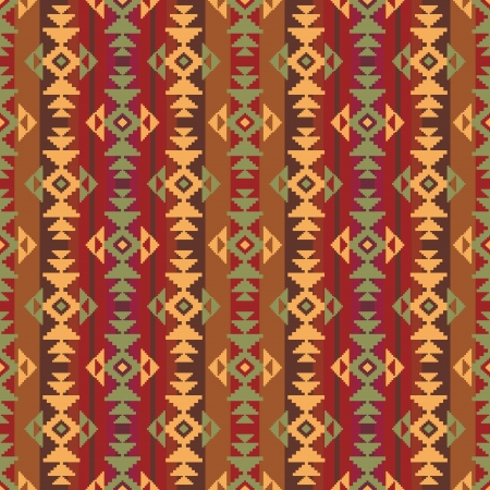 Geometric striped ethnic seamless pattern Vector