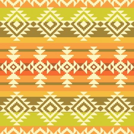 Tribal geometrisch gestreept patroon Stock Illustratie