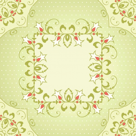 temlate: Floral frame temlate with place for text Illustration