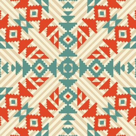 Ethnic geometric seamless ornament Vectores