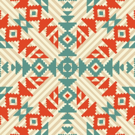 ikat: Ethnic geometric seamless ornament Illustration