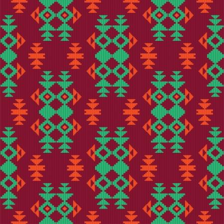 民族の織物のシームレスなパターン