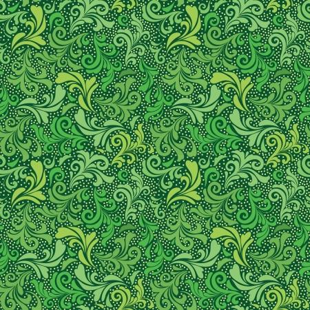 Verde senza soluzione di continuità astratta motivo floreale Vettoriali