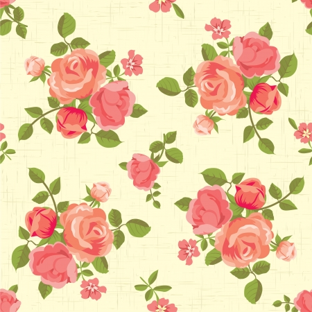 Blooming roses seamless pattern
