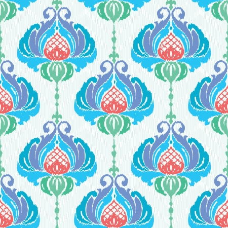 Flowers textile seamless floral pattern Vector