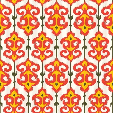 Ikat ornamental pattern Vectores