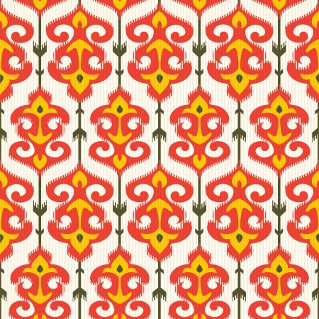 Ikat ornamental pattern Vector