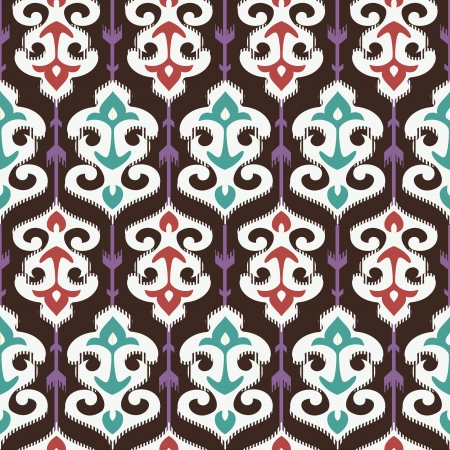 Oriental fabric ornament seamless pattern Vector