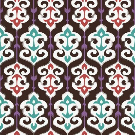Oriental fabric ornament seamless pattern