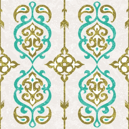 Ornamental seamless pattern in oriental style