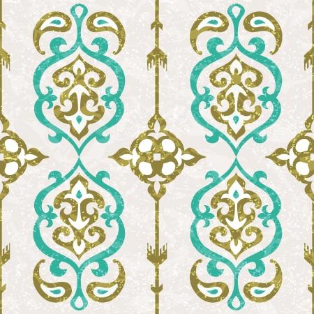 Sier naadloze patroon in oosterse stijl