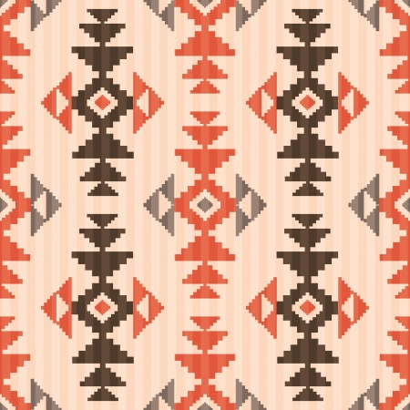 Seamless textile pattern in native american style