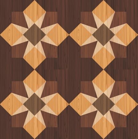 veneer: Wooden mosaic seamless pattern