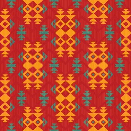 american indian: Abstract pattern in indian american style