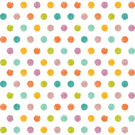 scetch: Abstract seamless pattern of colorful dots