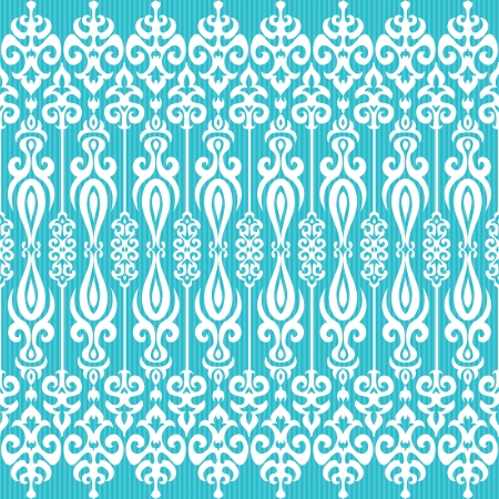 aqua flowers: Decorative ornamental background in oriental style