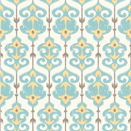 Ikat damask pattern in pastel colors Vector